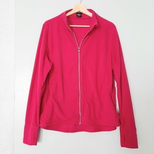 LORD & TAYLOR Hot Pink Full Zip Fleece Jacket 1X